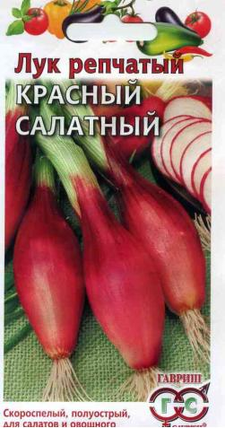 Лук репчатый «Красный» (салатный)