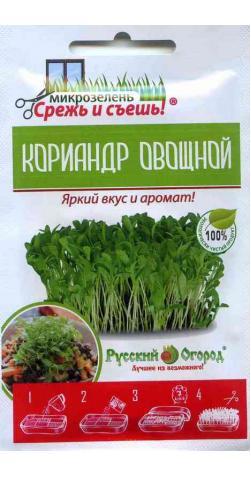 Кориандр (кинза) «Овощной» для подоконника.
