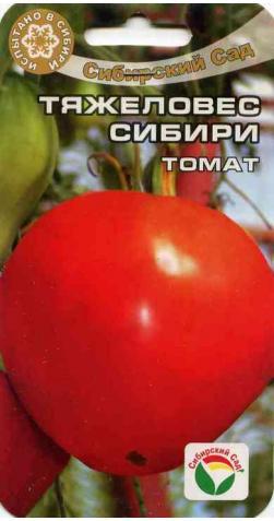 Томат «Тяжеловес Сибири» крупноплодный